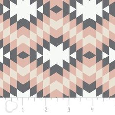 Camelot Cottons House Designer - Nordic - Diamonds in Pink