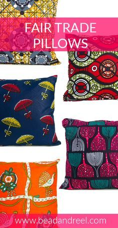 Bright and colorful Fair Trade pillows to accent any room, the perfect gift for yourself or someone you love.