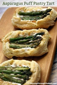 Asparagus Puff Pastry Tart - This Asparagus Puff Pastry Tart is the perfect appetizer or side dish for your next dinner! Easy to make, but no one will believe it!