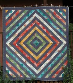 Sparrow Lane Quilts - awesome quilt! Love the design.