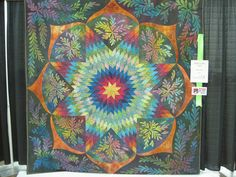 Dad's Lone Star quilt by Ricky Tims... See The Quilt Show for more from Ricky Tims and Alex Anderson, as well as hundreds of other inspiring quilt artists who have been on their show over the years