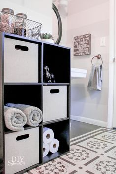 Quick And Easy Bath Storage For The Home Pinterest Cubes Cube