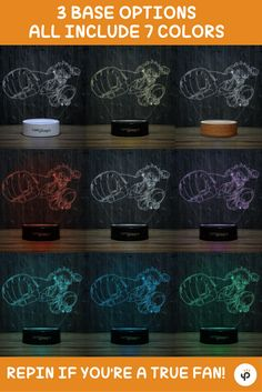 Monkey D. Luffy 3D-111 LED Illusion Lamp