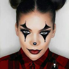 52 Ideas makeup looks halloween make up Maquillage Halloween Clown, Halloween Makeup Clown, Halloween Makeup Looks, Halloween 2018, Halloween Ideas, Halloween Costumes Diy Scary, Halloween Makeup Last Minute, Diy Costumes, Clown Halloween Costumes