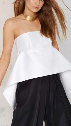 loretta white crop top. women fashion outfit clothing style apparel @roressclothes closet ideas