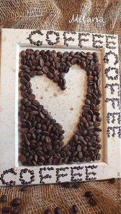 Купить Фоторамка и панно. Влюблены...друг в друга и ...в кофе)) - кофе, рамка для фото, панно декупаж