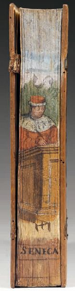 Fore edge painting on Seneca's Epistolae ad Lucillium, Roma, (No further information. Old Books, Antique Books, Vintage Books, Book Libros, Medieval Books, Old Libraries, Beautiful Book Covers, Renaissance, World Of Books
