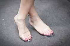 clear sandals // See by Chloé