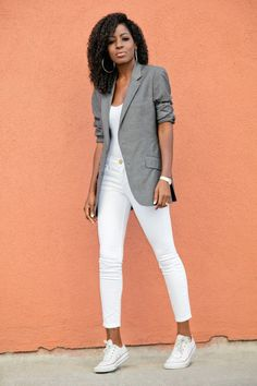 Outfit Details: Blazer (men's-old): Similar here, here or here | Bodysuit: Available here | Jeans (Current Elliott): Available here | Shoes: Available here. Enjoy and have a terrific day! xo