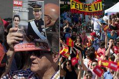 Coronación Felipe VI: Coronas, banderas, smartphones y la revista ¡HOLA! para aclamar a Felipe IV  #FelipeVI #realeza #royalty