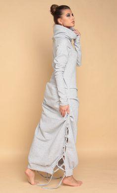 Cute Comfy Outfits, Warm Outfits, Sporty Outfits, Hijab Fashion, Girl Fashion, Fashion Dresses, Fashion Design, Dress Over Pants, Fashion 2020