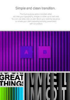 After Effects Project Files - Simple Vertical Blinds Transition | VideoHive
