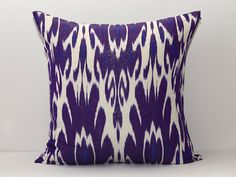 20x20 purple ikat purple cushion purple pillow ikat by SilkWay, $27.69