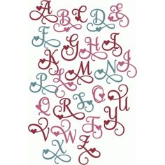 Silhouette Design Store: valentine flourish alphabet