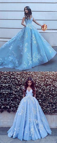 ea77d70289 Cinderella prom dresses ball gowns lace appliqué