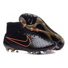 2c2f82df1ac Botas de fútbol Nike Magda Onda II FG Negro Naranja