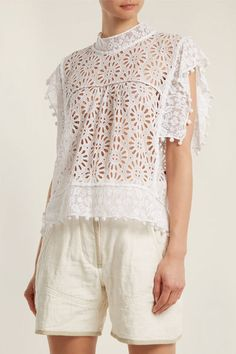 27 Broderie Anglaise Pieces To Buy Now Pink Lace Tops, Black Lace Tops, Girly Outfits, Simple Outfits, Smocks, Boho Fashion, Womens Fashion, Beautiful Dresses, Women Wear