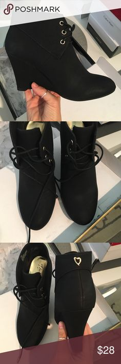 Thalia sodi black wedge ankle boots New in box Thalia sodi black PU wedge ankle boots. Thalia sodi Shoes Ankle Boots & Booties