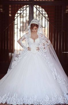 Beautiful lace ball gown