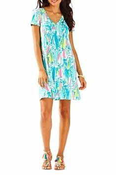 cf22c71d61f0d3 Lilly Pulitzer Short-Sleeve Dress - Alternate List Image Southern  California Beaches, Simple Dresses