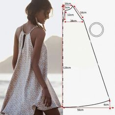 Patterns of clothing, which even a beginning dressmaker can cope with Sundress Pattern, Swimsuit Pattern, Dress Sewing Patterns, Clothing Patterns, Dress Tutorials, Sewing Tutorials, Diy Clothing, Sewing Clothes, Diy Dress