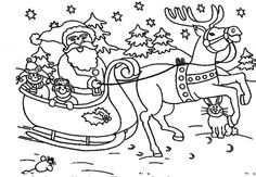 christmas colouring pages santa - Google Search