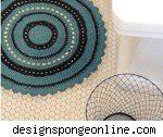vintage bath mat