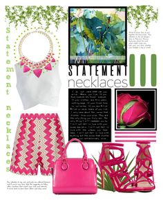 """Fucsia"" by ornellag ❤ liked on Polyvore featuring Missoni, Marlies Merk Najaka, Chicwish, Kendra Scott, ALDO and statementnecklaces"