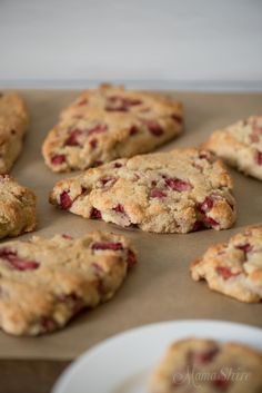 Gluten-free Strawberry Scones - Dairy free, Sugar free, Low-carb, THM-S