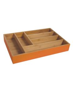 Take a look at this Island Bamboo Simple Orange Hue Large Flatware Tray by Colorful Kitchen Collection on #zulily today!