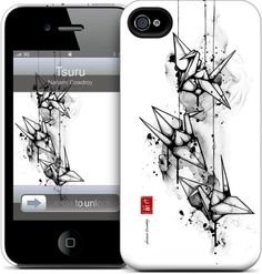 Tsuru by Nanami Cowdroy for iPhone 4S, 4 HardCase