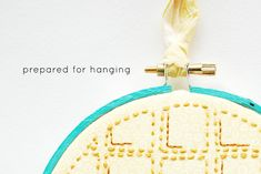 how to frame embroidery - without glue - phew