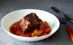 Beef in Barolo Author Notes: Mario Batali's iconic dish is a great example of something that is more than the sum of its parts. I owe Amanda full credit for introducing me to it. M (…more) - Merrill Stubbs