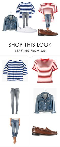 """""""Striped t-shirt contest"""" by shycoygirl65 on Polyvore featuring J.Crew, Miss Selfridge, Dondup, Madewell, Hudson, Bass Weejuns and stripedshirt"""