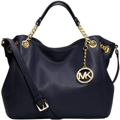 MICHAEL Michael Kors Jet Set Chain Medium Tote Handbag , Navy and other apparel, accessories and trends. Browse and shop related looks.