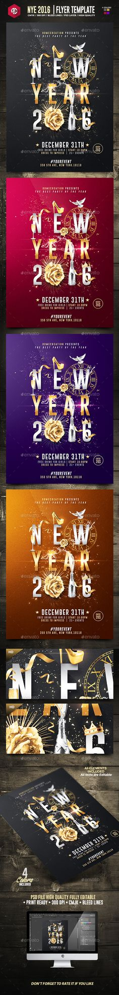 New Year 2016 | Psd Poster Template | Creative Flyer |Psd Available. #flyer #template #party  Thanks for The Watching !