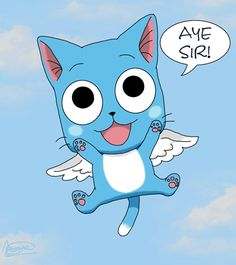 Day 15 - Favorite animal sidekick, pet, or summoning ------- Happy, Natsu's flying cat (Fairy Tail).