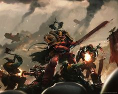 How to make a fanon Space Marine Chapter - Warhammer Wiki Warhammer 40k Blood Angels, Warhammer 40k Art, Warhammer Fantasy, The Grim, Angel Art, Space Marine, Sci Fi Art, Science Nature, Les Oeuvres