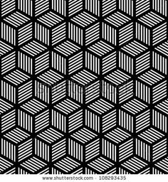 Seamless geometric texture in op art design. Vector art. by troyka, via Shutterstock