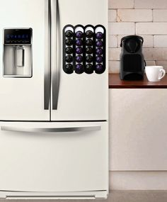 Good Black Nespresso Pod Holder, Nespresso Capsule Holder Magnetic Coffee Holder  Holds 20 Storage Coffee Nespresso