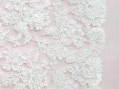 white bridal lace fabric -