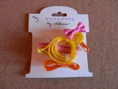Girly Duck Ribbon Sculpture Hair Clip by melanieswartz on Etsy, $3.00