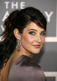 maybe something like this for the wedding make up? Cobie Smulders.