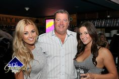 Playboy model Ciara Price with our owner Bill Fairweather and Dirty Water TV reporter Sophia Goulet