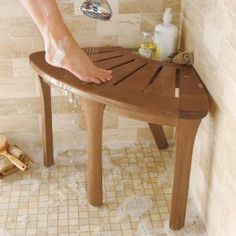Better than a built in tiled seat that could leak