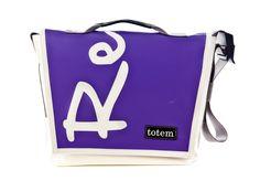 Totem Bags - T3 Hip City Messenger Bag - Purple Text, $155.00 (http://www.totembags.ca/t3-hip-city-messenger-bag-purple-text/)