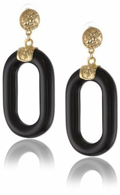 Kenneth Jay Lane Gold Top, Black Link Drop Earrings Kenneth Jay Lane. $68.00. Made in USA. Innovative, gifted and imaginative, Kenneth Jay Lane's fabulous costume jewelry is always made in the USA. The designer's creations are inspired with the everyday woman in mind.