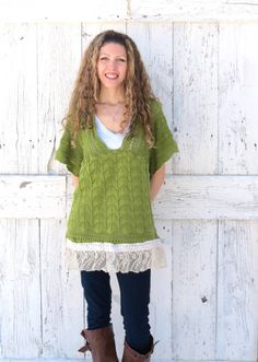 Green Eco Fashion Sweater Babydoll St. Patrick's by wearlovenow, $47.00