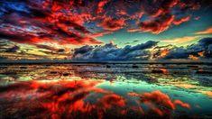 Beautiful sunset reflecting on the sea. : woahdude