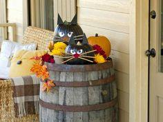 décoration halloween maison terrasse citrouilles